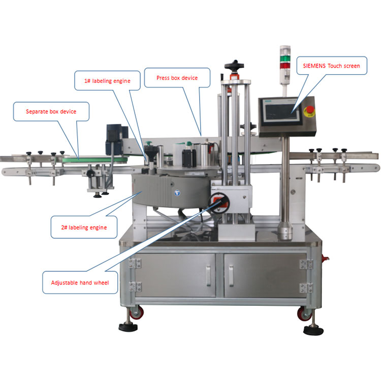 자동 카톤 박스 코너 라벨링 기계 세부 정보